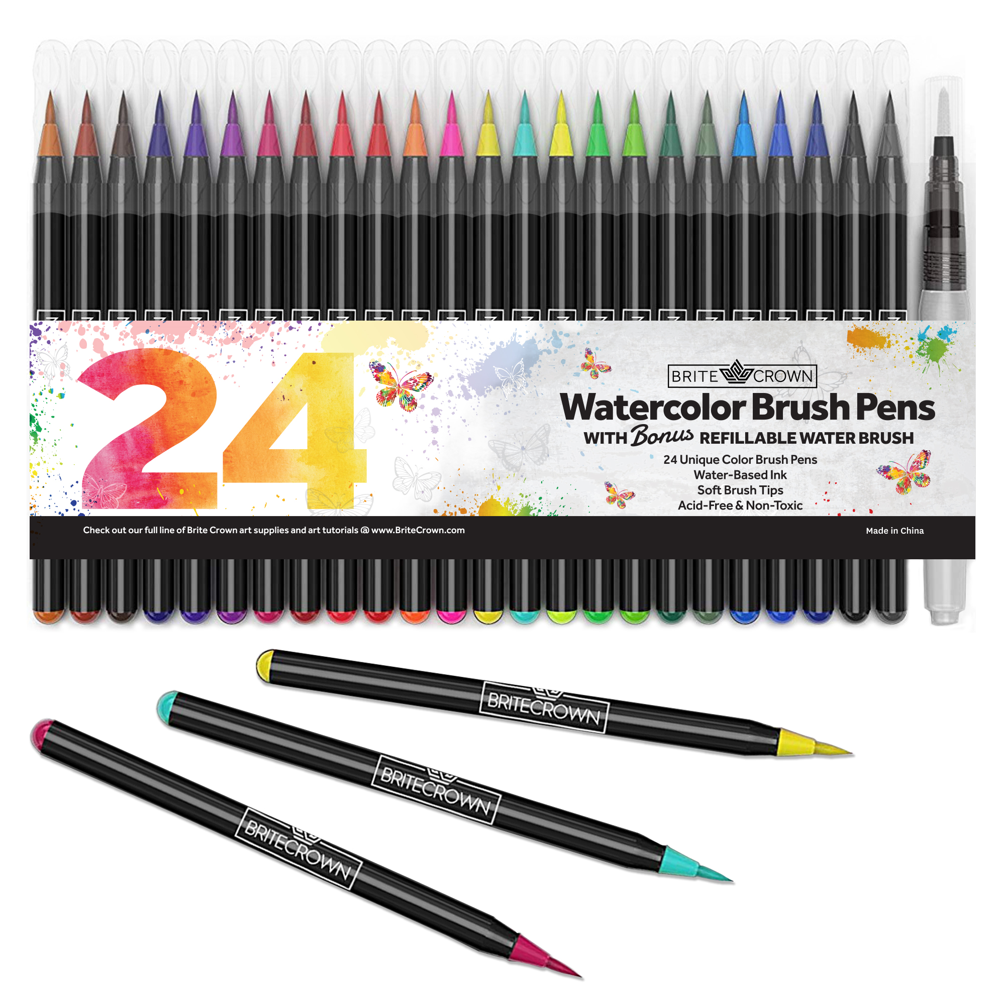 Brite Crown Watercolor Brush Pens